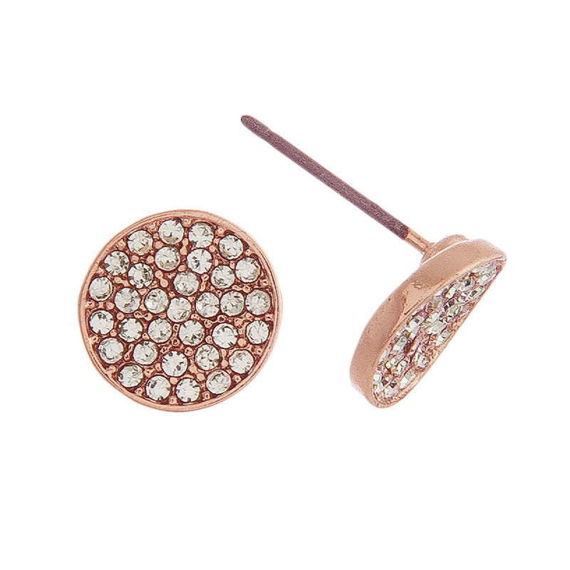 Rhinestone Stud Earrings.