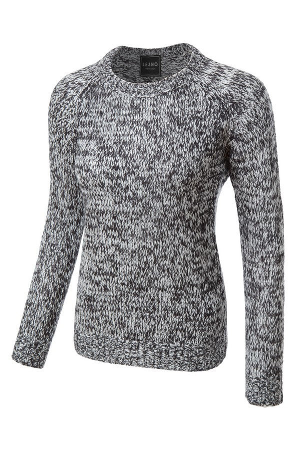 Soft Long Sleeve Round Neck Pull-Over