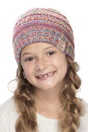 CC Four Tone Children's Beanie Pom
