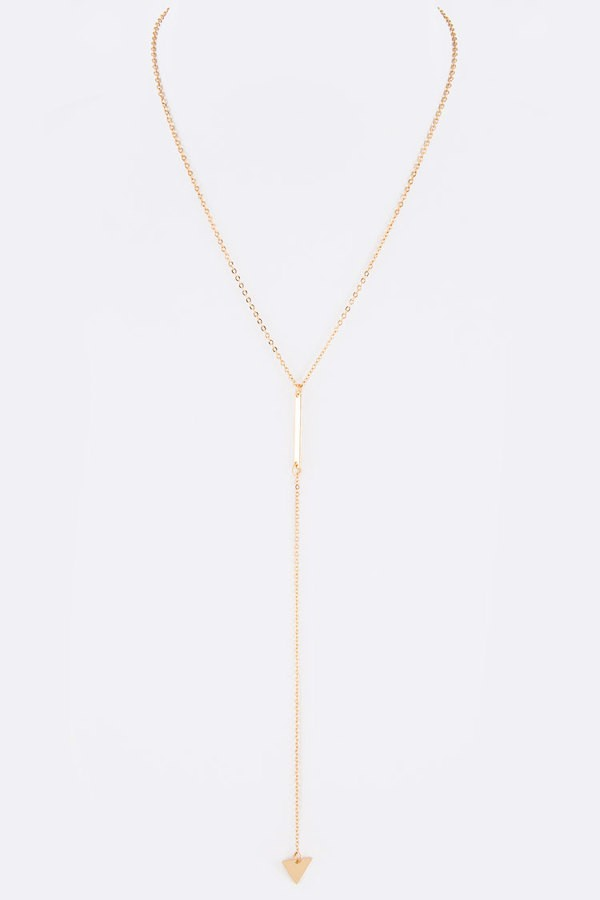 Triangle Metal Drop Dainty Necklace