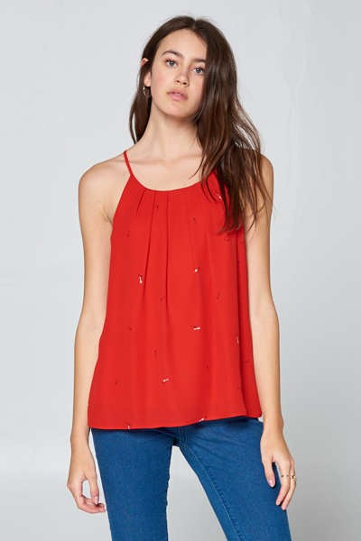 Dobby Double Layered Camisole Blouse