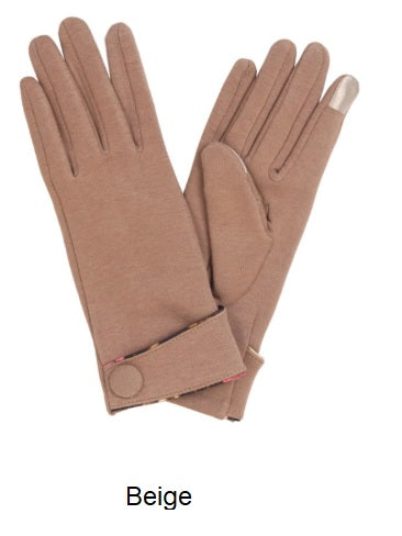 Touch Screen Gloves with Floral Trim