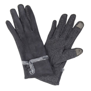 Faux Suede Gloves with Smart Tips
