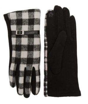Buffalo Plaid Touch Screen Gloves