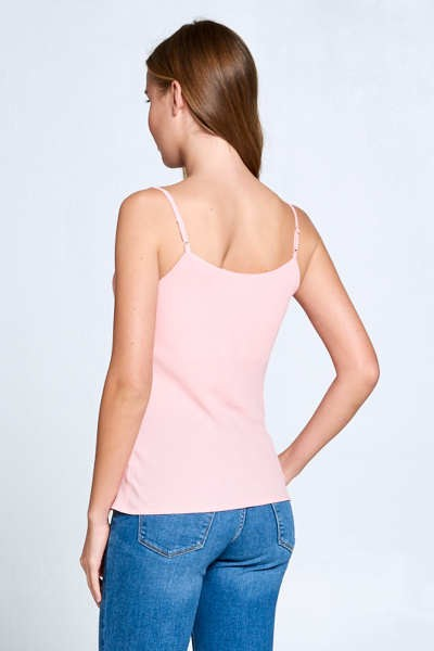 Bubble Crepe Solid Cowl Necked Camisole