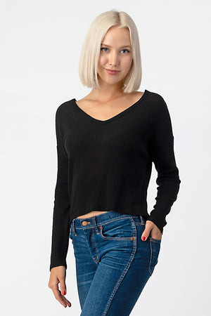 Semi-Cropped Twisted Top