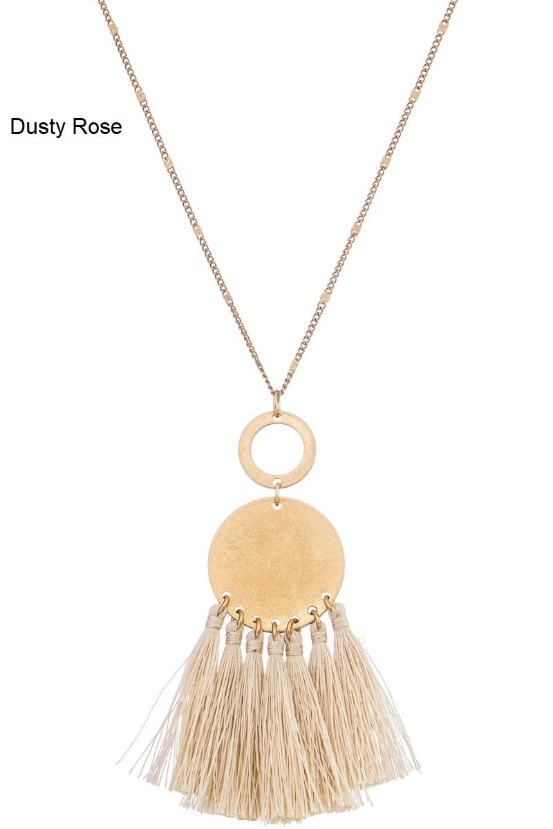Necklace with Pendant Tassel