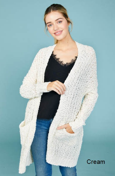 Popcorn Cardigan w/pockets