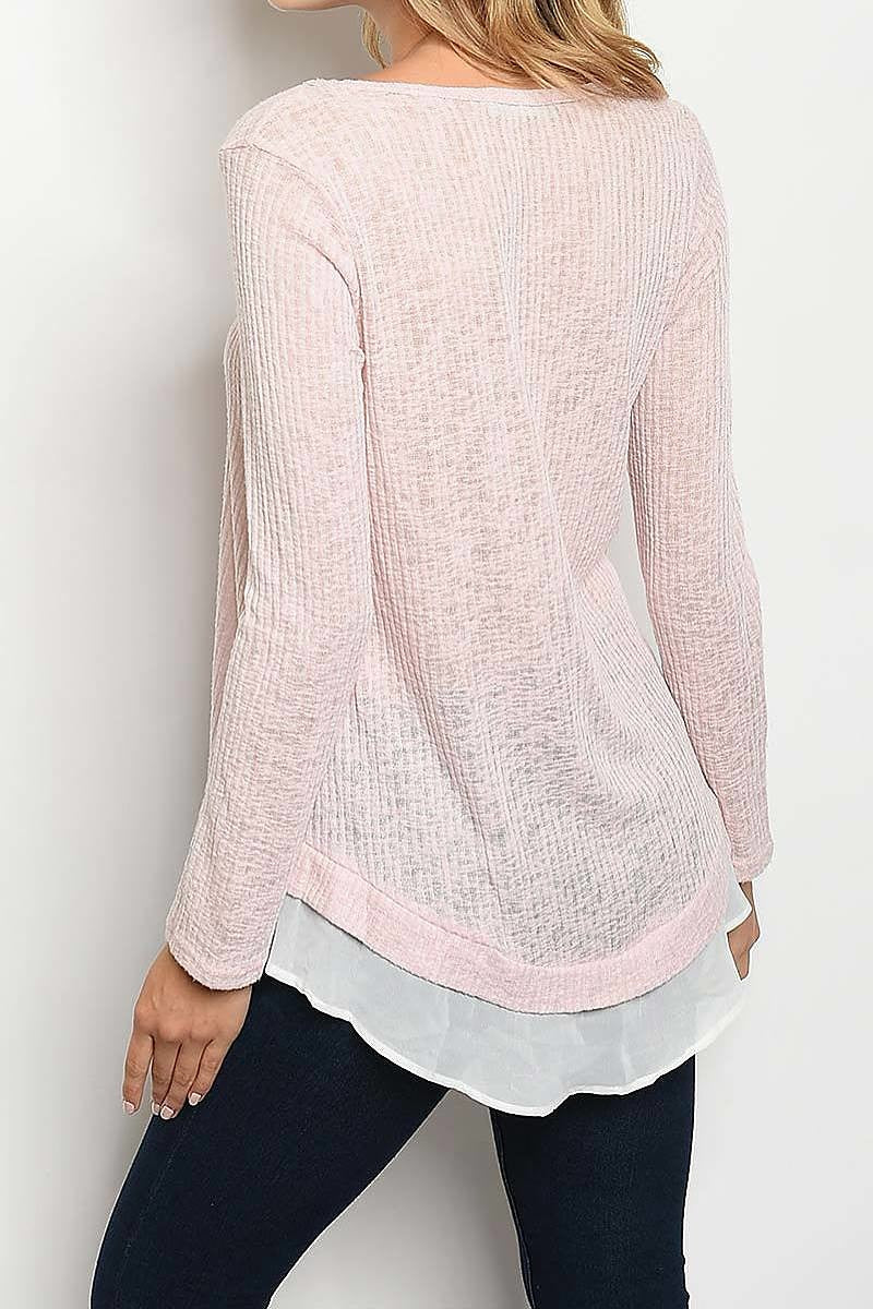 Boat Neck Tiered Layered Top