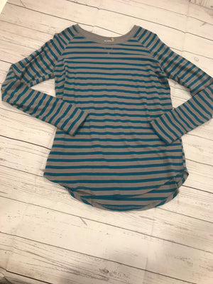 Teal Long Sleeve Striped Top