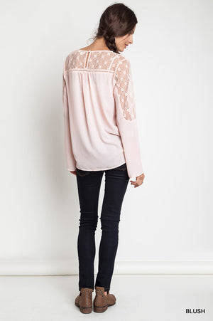 Delicate Lace Tunic Top