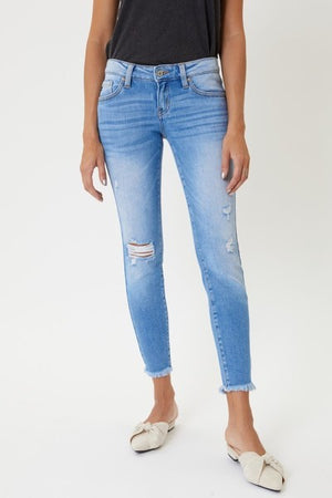 KanCan Low Rise Distressed Ankle Skinny