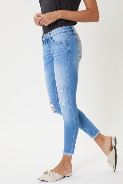 KanKan Low Rise Distressed Ankle Skinny