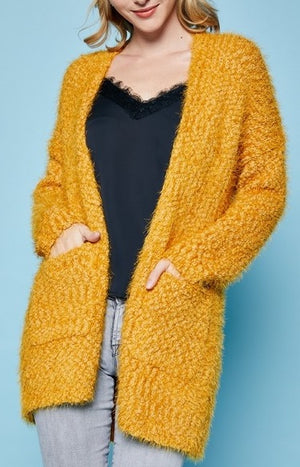 Fuzzy Popcorn Sweater Cardigan
