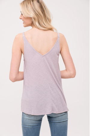 Sleeveless Front Twist Detail Knit Top