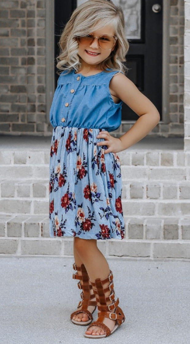 Sleeveless Button Dress