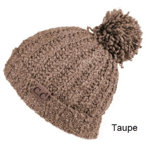 CC Chenille Beanie with Pom