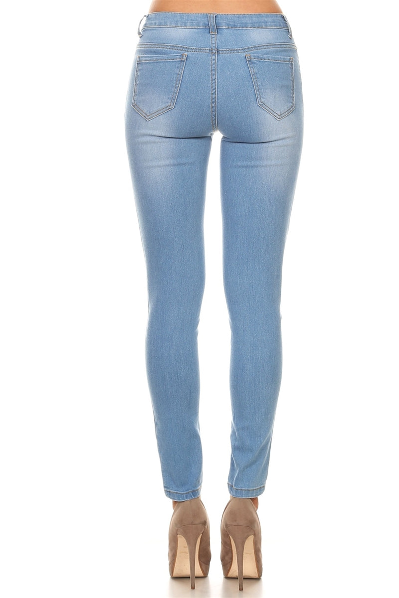 Mid-Rise Skinny Fit Stretch Jean Light Wash