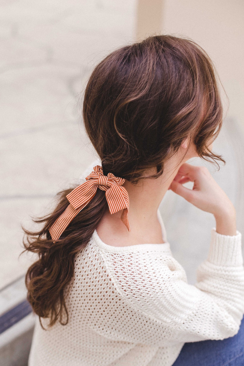 Tie Bow Hair Scrunchie