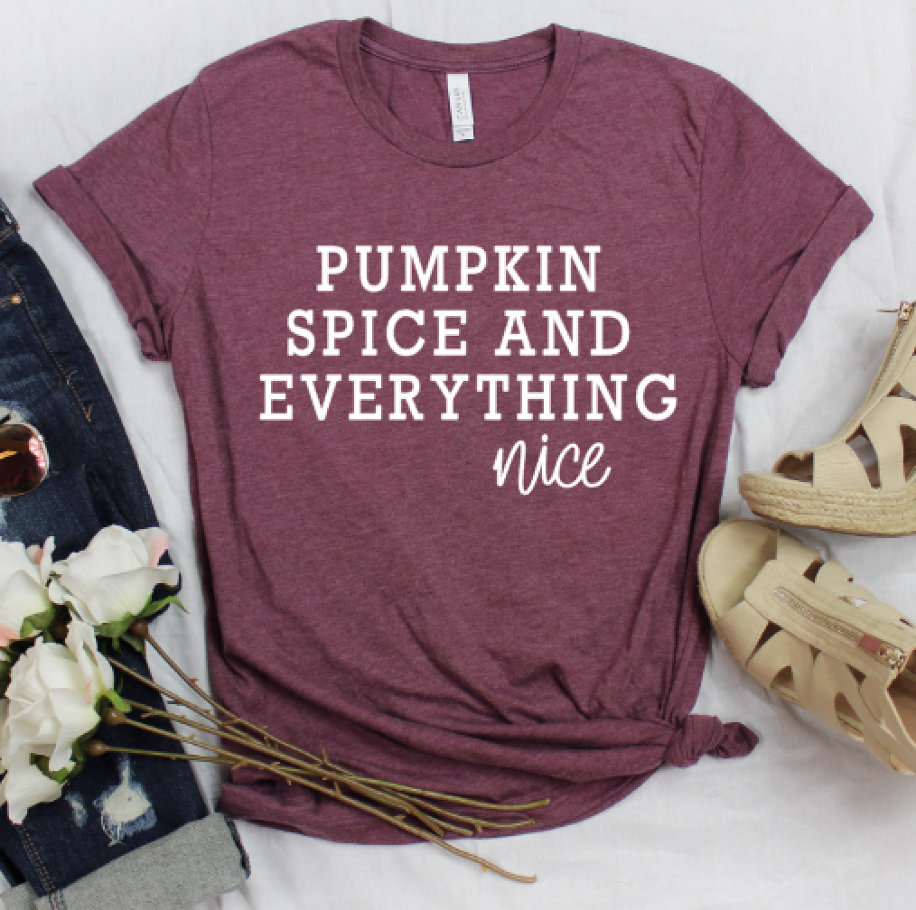 """Pumpkin Spice and Everything Nice"" Graphic Tee"