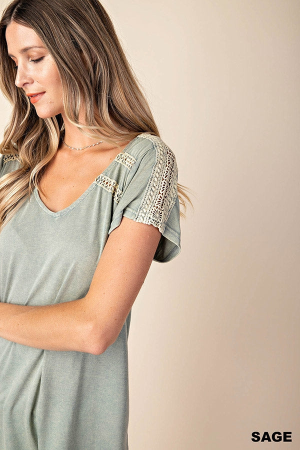 Double Lace Trim Top