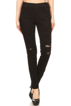 Black Ripped Denim Jeans