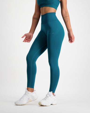 LU Teal Seamless Leggings