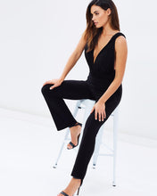 Load image into Gallery viewer, V-Neck Jumpsuit - Black - Esquire Label