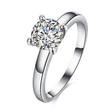 Load image into Gallery viewer, 1.90 CTTW Princess Cut Solitaire Stone Ring Set in White Gold - Esquire Label