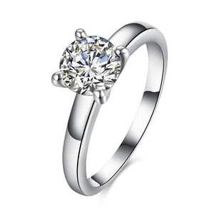 1.90 CTTW Princess Cut Solitaire Stone Ring Set in White Gold - Esquire Label