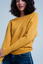 Load image into Gallery viewer, Mustard Textured Sweater With Round Neck - Esquire Label