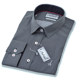 Black Diamond  Slim Fit Dress Shirt (Embroidered Logo) - Esquire Label