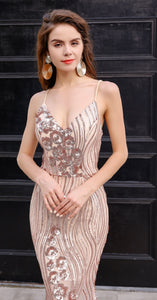Gold Evening Gown Sequin - Esquire Label