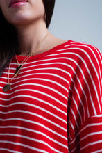 Load image into Gallery viewer, Red Striped Oversized Sweater - Esquire Label