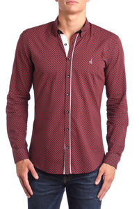 Scarlet Slim Fit Dress Shirt Long Sleeve - Esquire Label