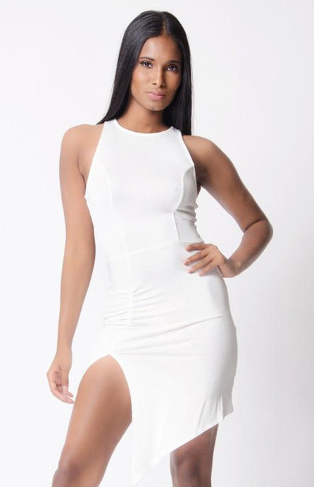 Solid Sleeveless Mini Dress - Esquire Label
