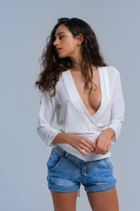 White Crossed Shirt With Ribbons - Esquire Label