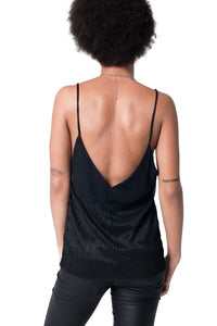 Black Lurex Cami Top - Esquire Label
