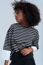 Load image into Gallery viewer, Black Striped Shirt - Esquire Label