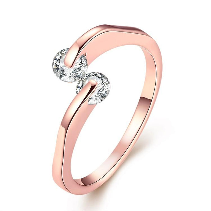 Together Forever Swarovski Crystal Ring Set in Rose Gold - Esquire Label