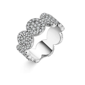 Micro-Pav'e Swarovski Elements Circular Ring - Esquire Label