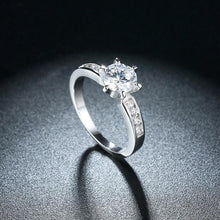 Load image into Gallery viewer, 2.50 ct Round Swarovski Crystal Set on Pav'e Band Ring - Esquire Label