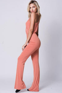 Solid Surplice Wide Legs Jumpsuit - Esquire Label