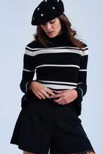 Load image into Gallery viewer, Cream Striped Black Sweater - Esquire Label