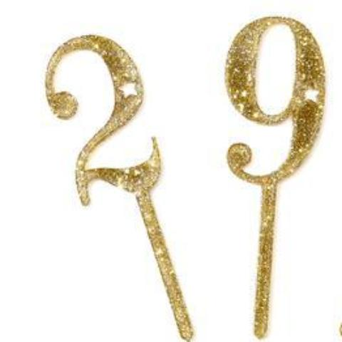 Glitter Cake Topper Numbers