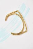 Open Bevel Cuff ~ Brass Bracelet