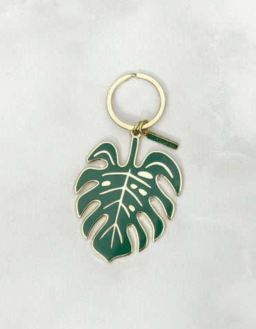 Monstera Key Chain