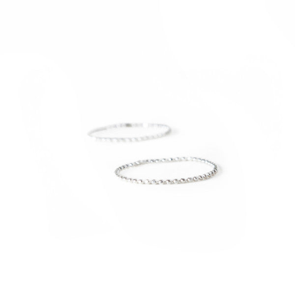 Tiny Ball Chain Ring ~ Silver