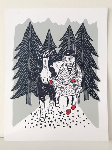 Girl and Pony ~ Print