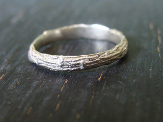 Sterling Silver Pine Branch Ring